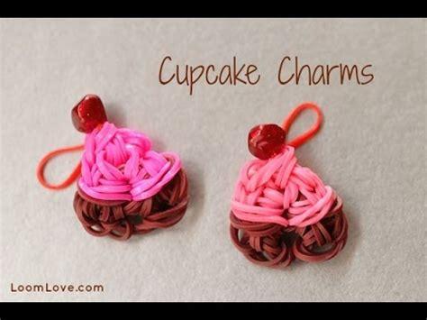 rainbow loom cupcake charm youtube