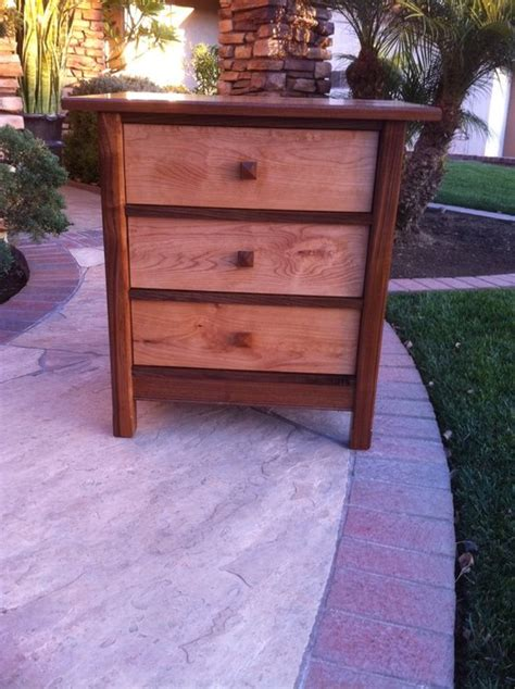 Bedroom Nightstands Walnut And Alder Tung Oil Finish By
