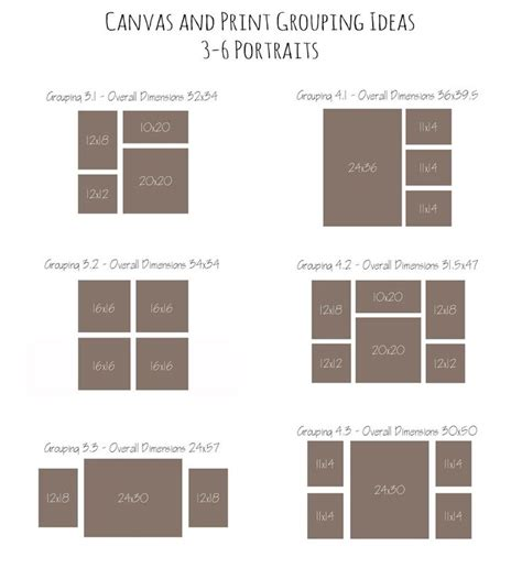 layout canvas canvas and print grouping ideas home decor ideas