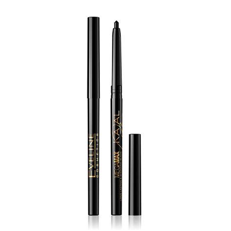 Eyeliner Max kajal mega max eyeliner pencil eveline cosmetics