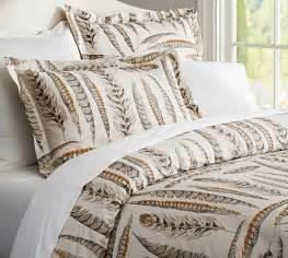 feather print bedding feather duvet cover sham pottery barn