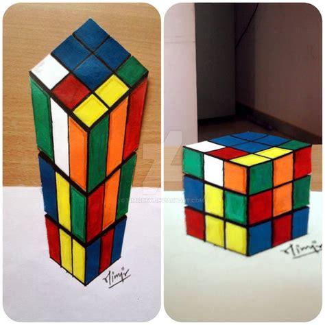 printable anamorphic art anamorphic rubik s cube by timirdey on deviantart