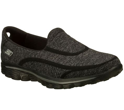 Skechers Kid Goflex Original by Skechers Gowalk 2 Sock Casual Shoes In Navygray For