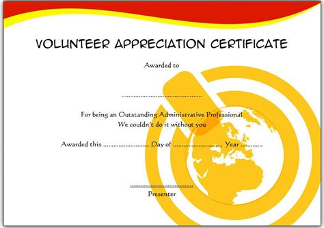 volunteer of the year certificate template volunteer certificate template 3 jpg the best template