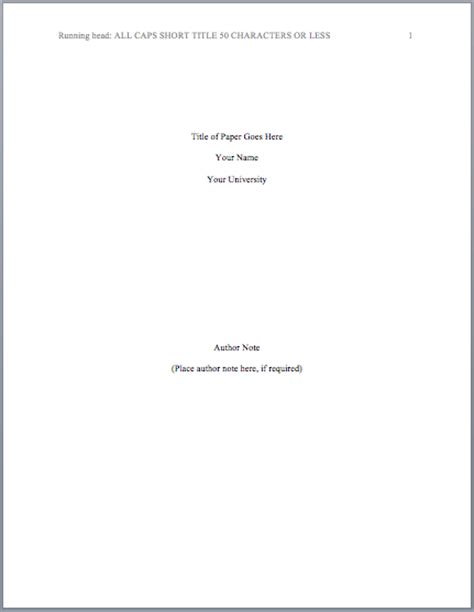 apa format title page template quotes resumewordtemplate org