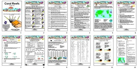 Coral Reef Worksheets For by Wings Activities For Coral Reefs By Jason Chin