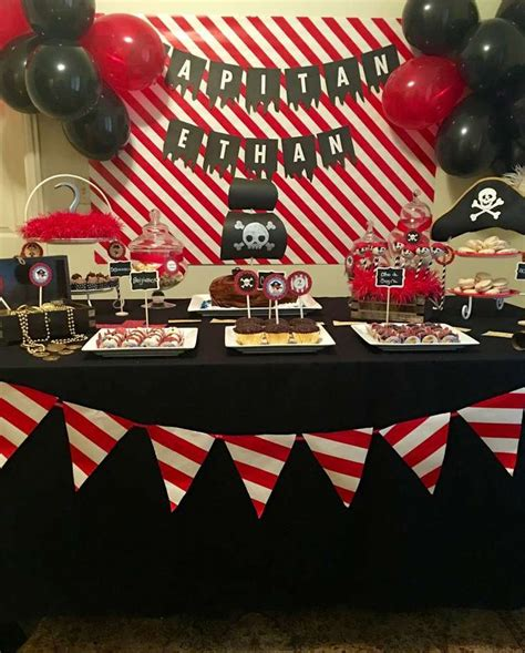 pirate themed table decorations best 20 pirate birthday ideas on