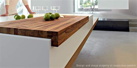 Corian And Wood Like The Butchers Block Innovative Architectural