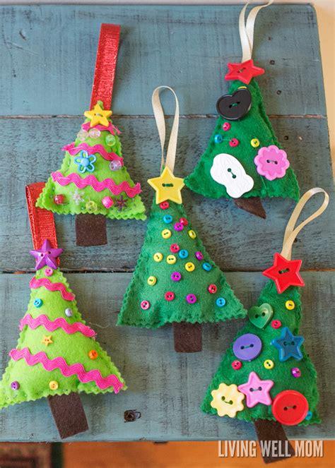 tree ornament kits felt tree ornaments