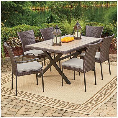 Wilson Fisher 174 Hyde Park 7 Piece Dining Set At Big Lots Hyde Park Outdoor Furniture