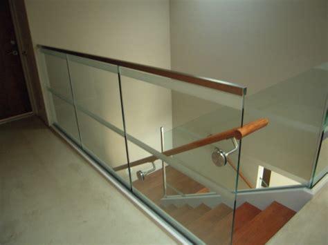 glass railings interior  exterior modern
