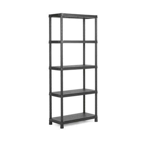 scaffale in plastica scaffale plastica cm 80x40x187h 5 piani nero