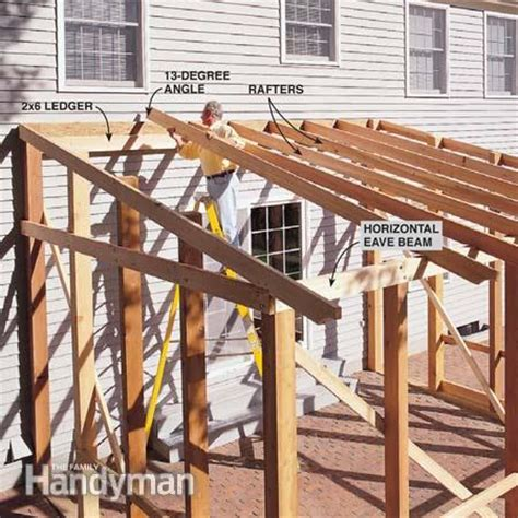 build a patio awning how to build a screened in patio the family handyman