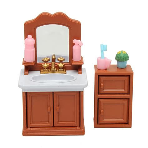 dollhouse bathroom furniture diy miniatures bedroom bathroom furniture sets for