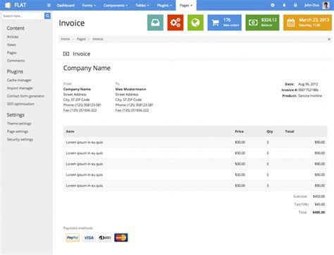 themeforest invoice flat responsive admin template by eakroko themeforest