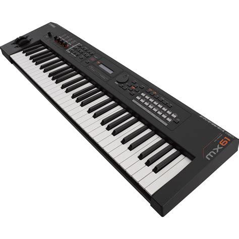 Keyboard Yamaha Mx61 yamaha mx61 v2 production synthesizer black mx61bk b h