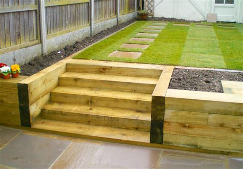 Laying Garden Sleepers by Hardwearing Softwood And Hardwood Railway Sleepers