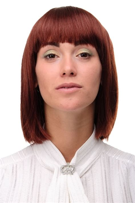 bob hairstyles dress up sexy wig page long bob hairstyle braun rust brown smooth
