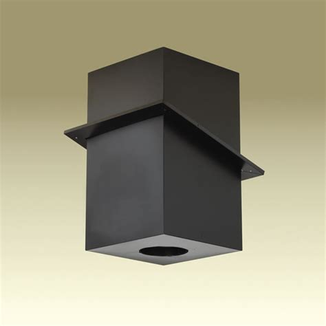 stove pipe through ceiling duraplus all fuel square cathedral ceiling support box