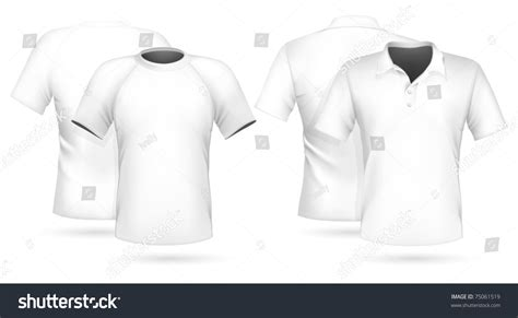 vector illustration men s t shirt and polo shirt design