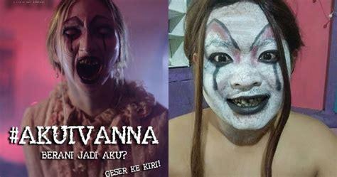 film horor kocak 10 gaya kocak warganet tiru makeup hantu ivanna danur ini