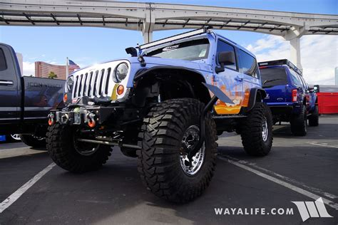 jeep 2016 2 door 2016 sema daystar 2 door stretched jeep jk wrangler