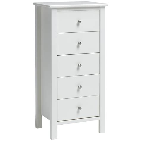 white tall chest of drawers uk stockholm 5 drawer tall boy white simply furniture