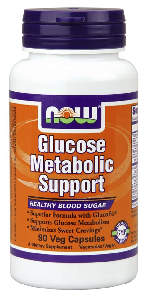 Vitamin Glucola Glucose Metabolic Support Veg Capsules Now Foods