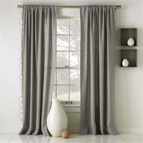 cotton linen drapes linen cotton curtain platinum west elm
