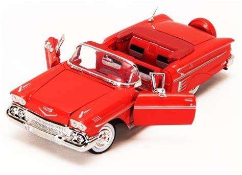 Mainan Die Cast Cars 4 1958 chevrolet impala convertible showcasts die cast scale 1 24 diecast cars l k