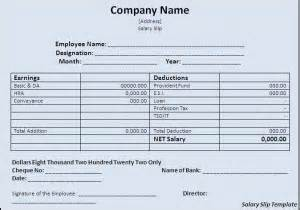 salary slip template word excel formats