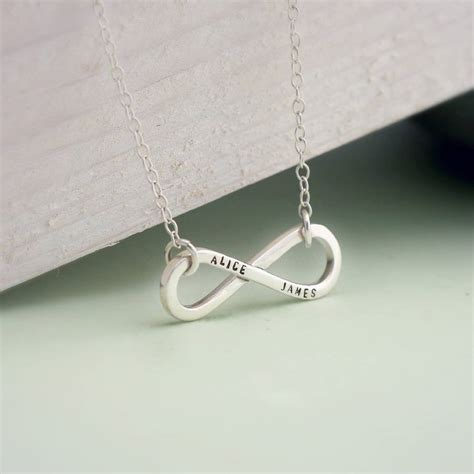 Infinite Necklace personalised infinity necklace by posh totty designs