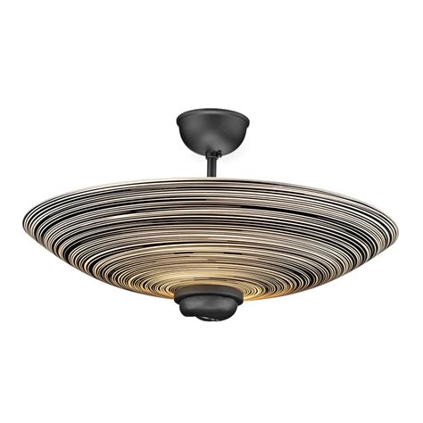 david hunt swf5822 swirl 2 light black semi flush fitting