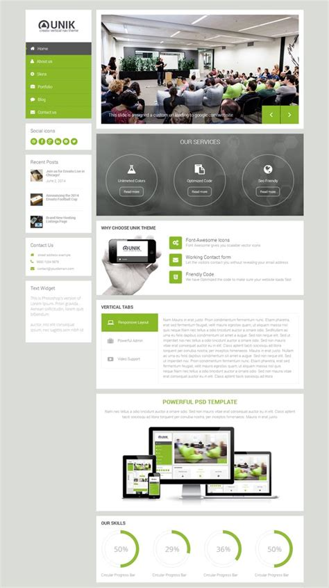 theme wordpress unik unik ultra customizable wordpress theme html5 mania