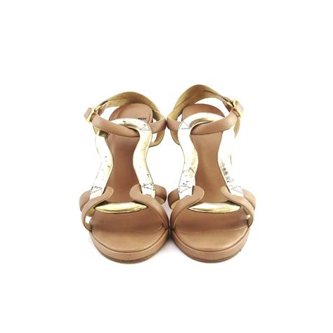 Sandal Wedges Wanita Lcc 958 second hardy leather wedge sandals the fifth collection