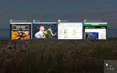 des bureaux virtuels avanc 233 s au menu de windows 10