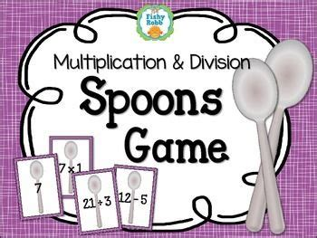 printable division games for the classroom multiplication division card game spoons