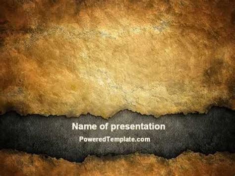 Old Parchment Powerpoint Template By Poweredtemplate Com Youtube Parchment Powerpoint Template