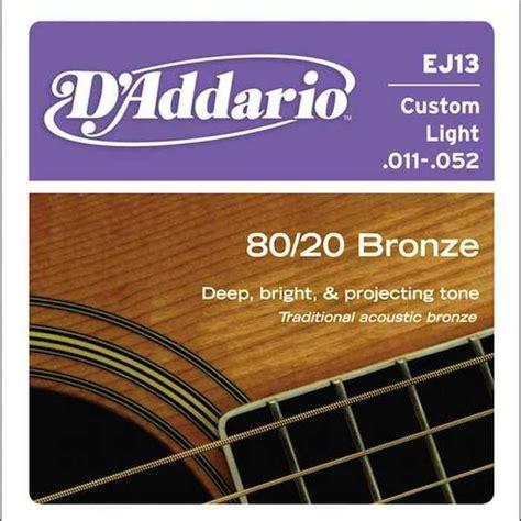Senar Gitar D Addario Akustik 011 d addario ej13 80 20 bronze acoustic strings 11 52