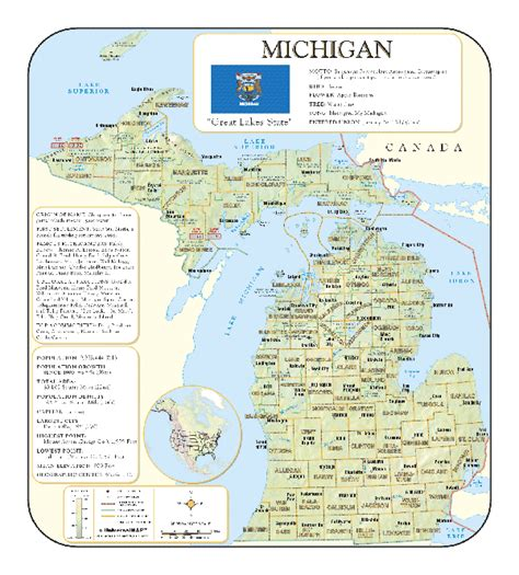 map of cities in michigan michigan wall maps national geographic maps map quest
