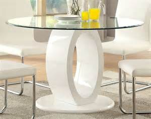 Glass Top Pedestal Dining Room Tables Lodia I White Glass Top Pedestal Dining Room Set From Furniture Of America Cm3825wh Rt