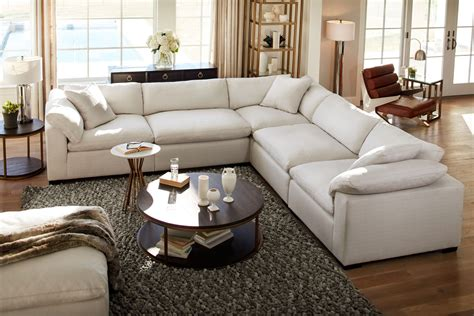 Plush Sofas Sale by Plush 5 Sectional Anders Ivory American