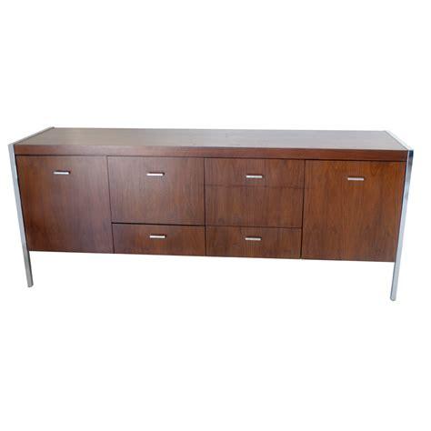 credenza vintage 6ft vintage jasper walnut chrome credenza cabinet ebay