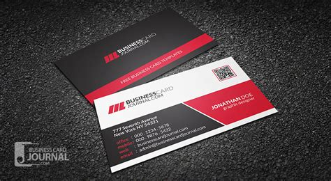 blue corporate business card template with qr code free corporate business card templates 187 business card journal