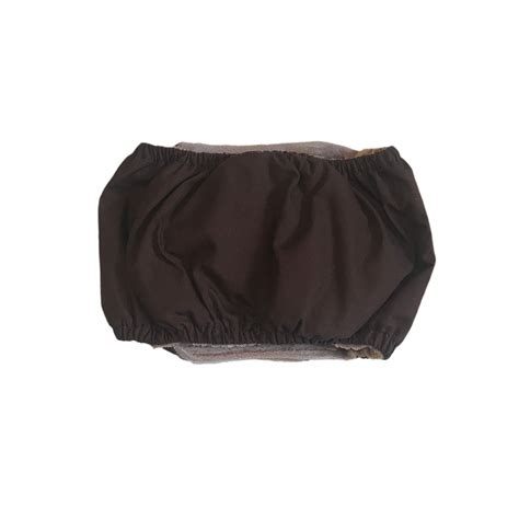 puppy belly band barkertime chocolate brown washable belly band wrap