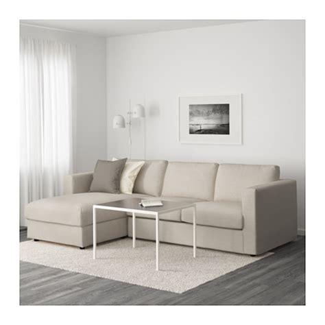 sofa in ikea vimle sofa with chaise gunnared beige ikea