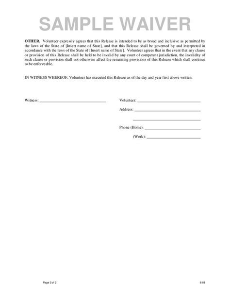 legal waiver form templates legal liability waiver form a