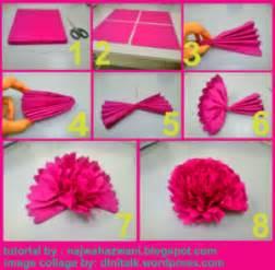 Tutorial Origami Bunga - membuat topiary bunga pomander balls dengan kertas