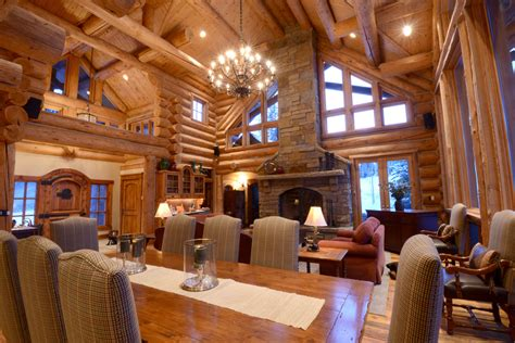 Craftsman 2 Story House Plans by Amazing Log Homes Interior Interior Log Home Open Floor