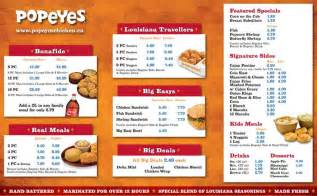 popeyes chicken menu and prices 2017 restaurantfoodmenu
